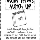 FREEBIE Math Terms Match Up
