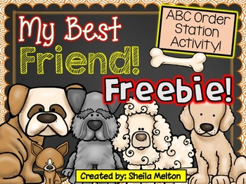 FREEBIE! My Best Friend! {ABC Order Station Activity}