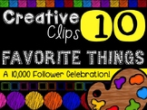 FREEBIE! My Favorite Things #10 {Creative Clips Digital Clipart}