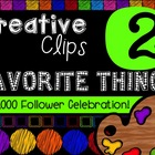 FREEBIE! My Favorite Things #2 {Creative Clips Digital Clipart}