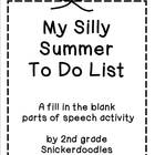 FREEBIE: My Silly Summer To Do List
