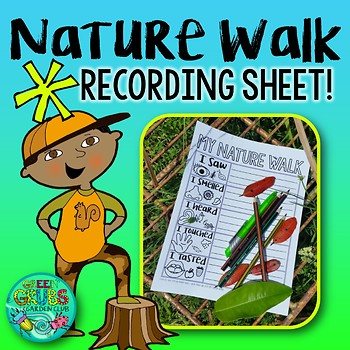 Nature Walk Activity Freebie Writing Recording Sheet For Your