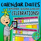 Hemisphere & Seasonal/Holiday Calendar 4 TPT SELLERS - FREEBIE!