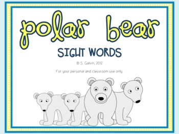 FREEBIE Polar Bear Sight Words