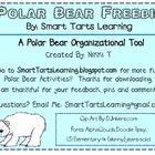 "**FREEBIE** Polar Bears ""Can, Have, Are"" Fact Organizational Tool"