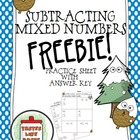 FREEBIE! Subtracting Mixed Numbers (Unlike Denominators)