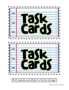 FREEBIE: Task Card Direction Sheet and Tub Labels