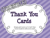 {FREEBIE} Thank You Cards