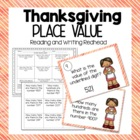 FREEBIE Turkey-licious Place Value  for 2NBT1 {Common Core