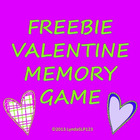 FREEBIE: Valentine Memory Game
