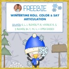 FREEBIE! WINTERTIME ROLL AND COLOR ARTICULATION SOUNDS: TH