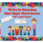 "FREEBIE!! Write-In Rhyming Mini Sight Word Books ""is"" and"