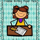 FREEBIE Writing Paper Pack