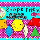 FREEBIE...Shape Friends Clipart