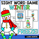 FREEZE! A Winter Sight Word Game