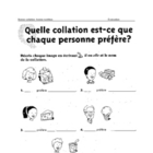 FRENCH - Evaluation du vocabulaire relie a  la collation