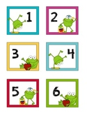 FRENCH - Frog Calendar Set