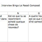 FRENCH Interview Bingo Le Passe Compose