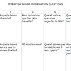 FRENCH Interview Bingo Question Practice
