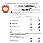 FRENCH La collation une question de temps