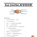 FRENCH - Le verbe avoir - worksheet and key