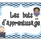 "FRENCH Learning Goals sign title page ""Les buts d'apprentissage"""