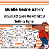 FRENCH Time (measurement) math word wall words vocabulary