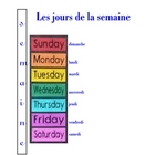 FRENCH- les jours de la semaine (days of the week) and key