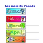 FRENCH - les mois de l'annee (months of the year and key)