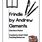 FRINDLE, by Andrew Clements, a Huge 45 Page Literature Packet!!!