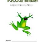 F.R.O.G BINDER coversheet and rules