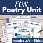 FUN Poetry Unit for Middle School Students