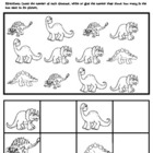 FUNNY DINOSAURS COUNT & WRITE HOW MANY