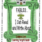 Fables I Can Read and Write About for Common Core