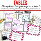 Fables Unit Charts and Graphic Organizers