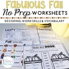 Fabulous Fall {Literacy Activities, Math Games, and Lesson