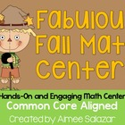 Fabulous Fall Math Centers {Common Core Aligned}