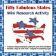 Fabulous Fifty States Mini-Booklet Research Activity Printable