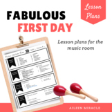 Fabulous First Day! {Lessons and Materials for the Music Room}