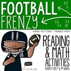 "Football Pack: ""Hard-Hitting"" Math + Reading Activities"