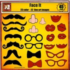 Mustache Clip Art with Glasses, Noses, and Ties for Disguises