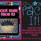 Face It - Rock Star {Faces for Decorating Spaces & Writing