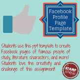 Facebook Profile Template GREAT for literature studies or