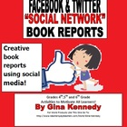 Facebook & Twitter Social Media Book Report Templates
