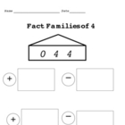 Fact Families 0-10