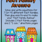 Fact Family Avenue - Related Addition and Subtraction Facts