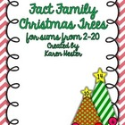 Fact Family Christmas Trees 2-10