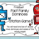 Fact Family Dominoes Freebie