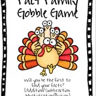 Fact Family Gobble Game- Customize for all Facts!