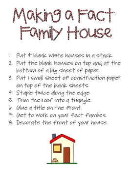 Fact Family House Project